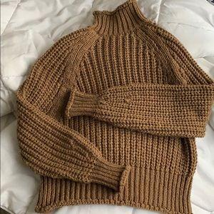 H&M Carmel Bulky Knit Turtleneck